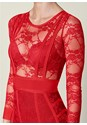 Alternate View Bandage Lace Bodycon Dress