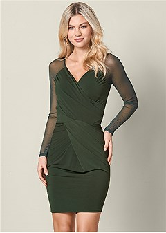 drape detail dress