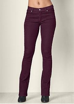 velvet stripe pants
