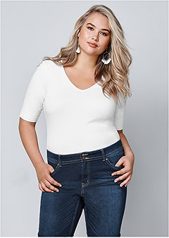plus size long and lean tee decbea7b6247