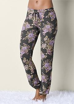 floral jogger sweatpants