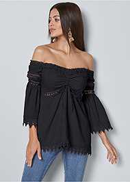 Front View Off The Shoulder Top