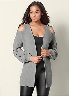 cold shoulder cardigan