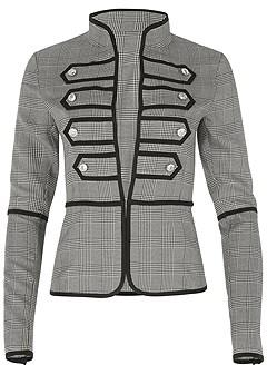 plus size button detail jacket