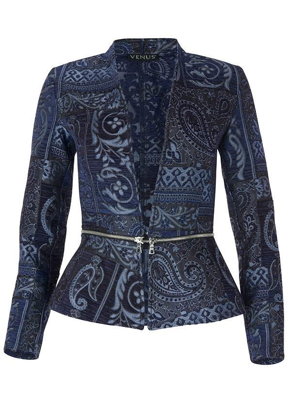 Alternate View Paisley Print Jacket