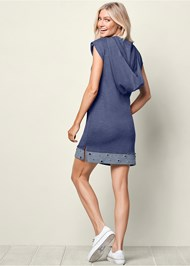 Back View Grommet Detail Lounge Dress