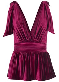 Alternate View Pleated Velvet Top