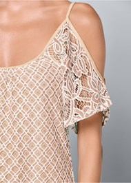 Alternate View Cold Shoulder Lace Dress