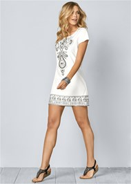 Front View Embellished Mini Dress