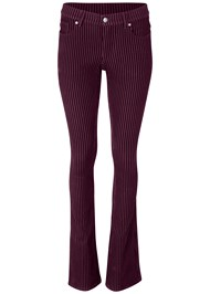 Front View Velvet Stripe Pants