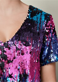 Alternate View All Over Sequin Top