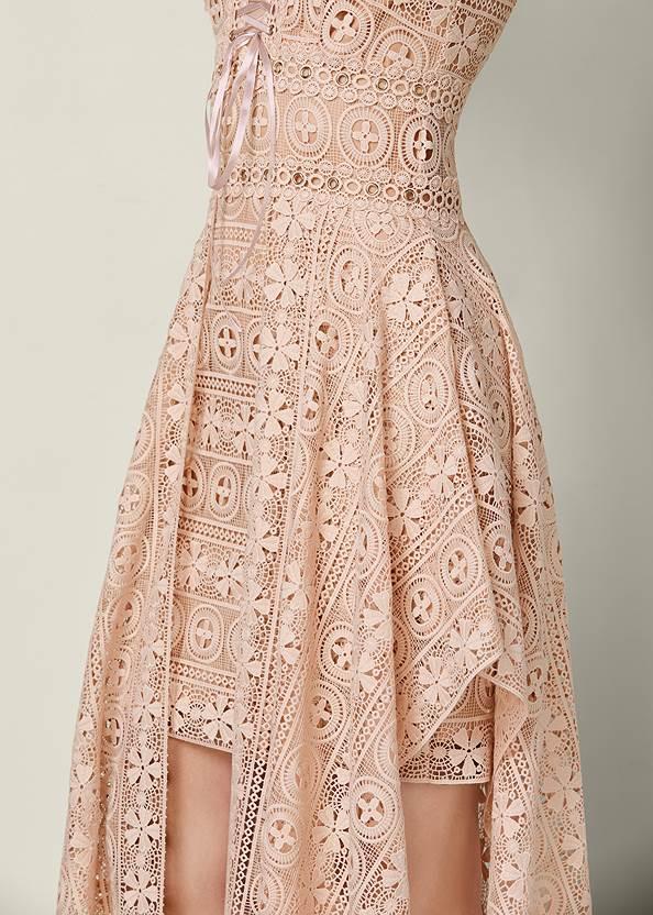 Alternate View Lace Up Detail Lace Dress