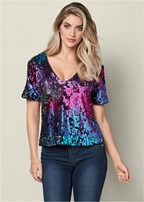 all over sequin top