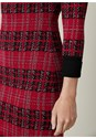 Alternate View Plaid Bodycon Sweater Dress