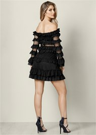 Back View Ruffle Detail Mini Dress