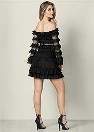 Back View Ruffle Detail Mini Dress