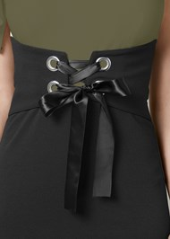 Alternate View Corset Detail Bodycon Dress