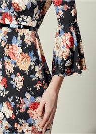 Alternate View Bell Sleeve Floral Dress