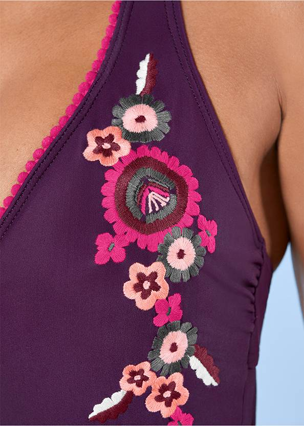 Alternate view Embroidered One-Piece