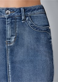 Alternate View Color Mini Jean Skirt