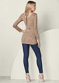 Back View Faux Suede Tunic