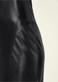 Alternate View Faux Leather Midi Dress