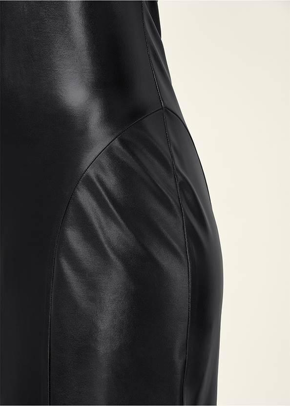 Alternate View Faux Leather Midi Dress