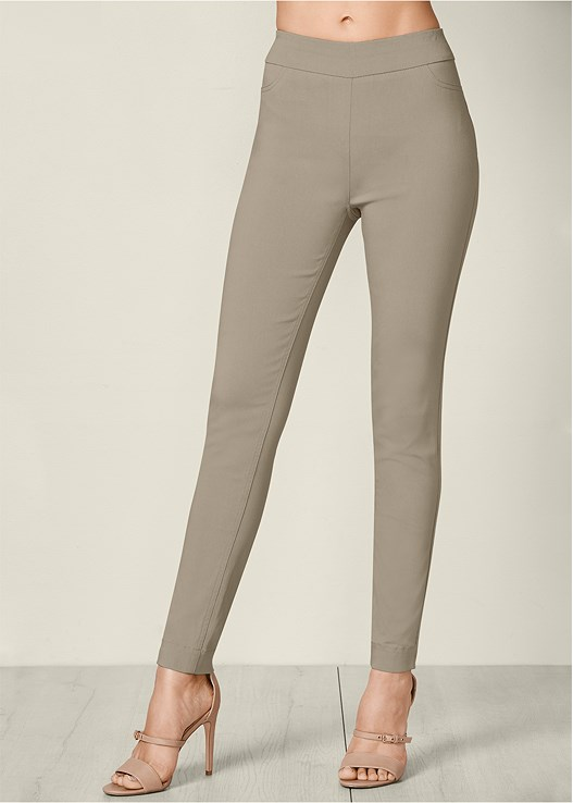 SLIMMING STRETCH JEGGINGS,STRAPPY HEEL