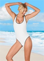 shell stitch one-piece