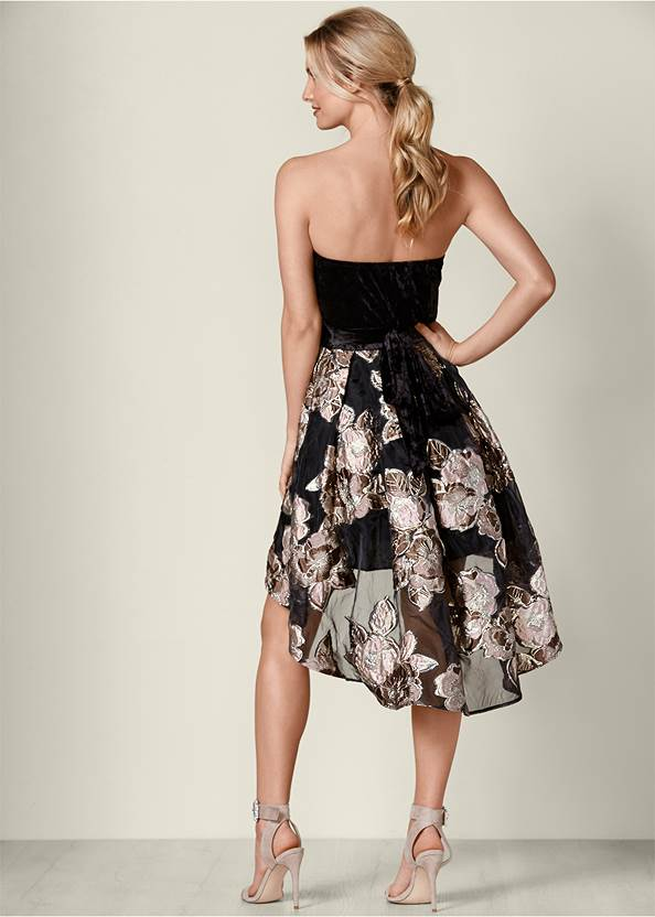 Back View Strapless High Low Dress