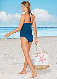Back View Crochet Bandeau Tankini