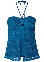 Alternate View Crochet Bandeau Tankini
