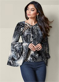 Tiered Bell Sleeve Top