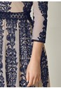 Alternate View Plunging Embroiderd Dress