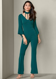 Front View Strappy Detail Jumpsuit