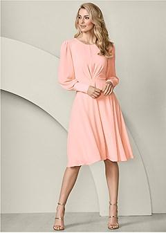 cuff detail dress