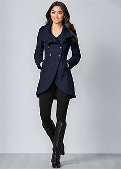 button detail coat