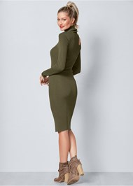 Back View Cut Out Sweater Dress