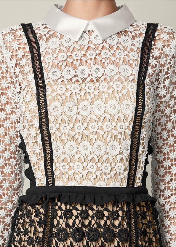 Alternate View Cut Out Detail Lace Dress