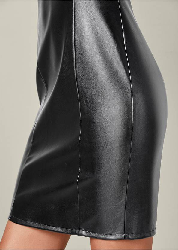 Alternate View Faux Leather Bodycon Dress