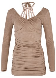 Alternate View Faux Suede Tunic