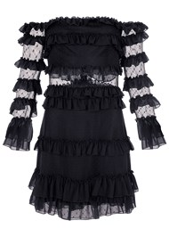 Alternate View Ruffle Detail Mini Dress