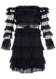 Alternate View Ruffle Detail Mini Dress