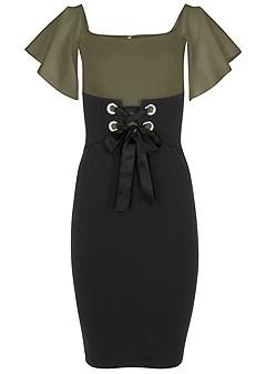 plus size corset detail bodycon dress