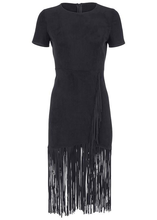 Plus Size FAUX SUEDE FRINGE DRESS | VENUS