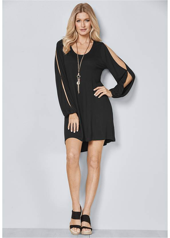 Back View Sleeve Detail Dress