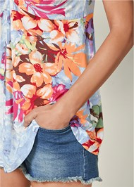 Alternate view Plunging V-Neck Top
