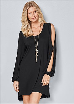 sleeve detail dress