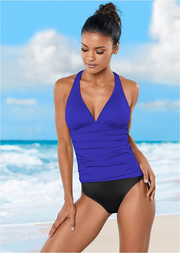 Back View Smoothing V-Back Tankini Top