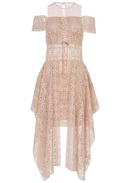 Alternate View Lace Up Detail Lace Dress